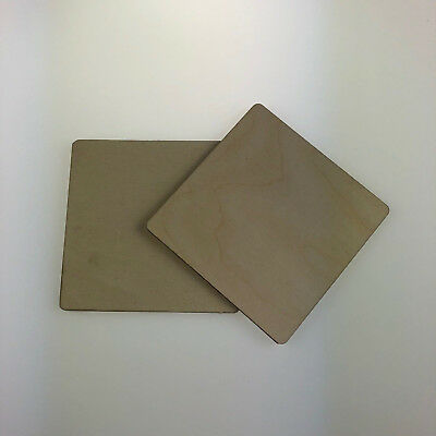 Rounded Corner Squares Birch Plywood Ply Sheet Squares Wooden Wood Board  Sheets • 17.99£