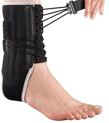Ankle Sports Lace Up Support Brace Guard Injury Pain Stabilizer Achilles Tendon • 9.49£