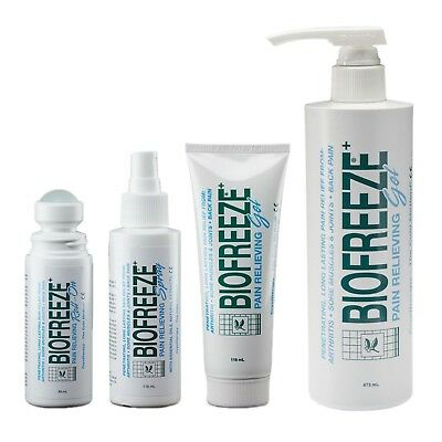 Biofreeze Cold Therapy Pain Gel Roll On Spray - Select Product And Quantity • 9.99£