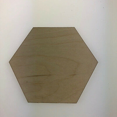 Birch Plywood Hexagon Ply Sheet Squares Wooden Wood Board  Sheets Frame Craft  • 17.99£