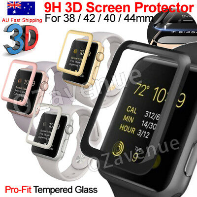 AU7.69 • Buy Apple Watch Series 1/2/3/4/5/6 Tempered Glass Screen Protector Full Edge IWatch
