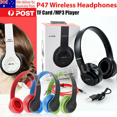AU17.95 • Buy Noise Cancelling Wireless Headphones Bluetooth 5 Earphone Headset With Mic Hot