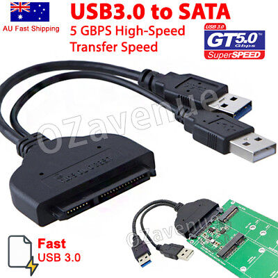 AU8.99 • Buy USB 3.0 To SATA External Converter Adapter Cable For 2.5  HDD SSD SATA III