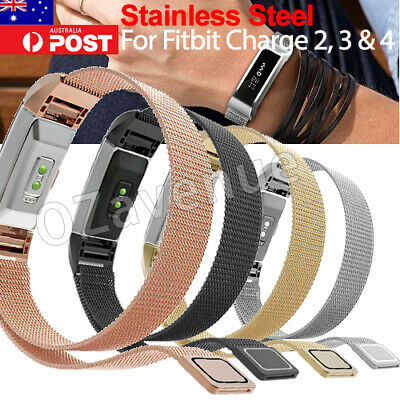 AU10.95 • Buy Stainless Steel Metal Watch Wrist Band Strap Bracelet For Fitbit Charge 2 3 4