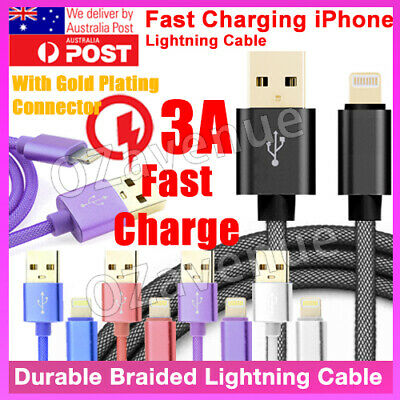 AU8.49 • Buy FAST CHARGE Lightning Apple IPhone 11 Pro Max✓ X✓ 8✓7✓6 Charging Cable Charger