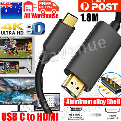 AU10.95 • Buy USB C To HDMI Cable USB Type C Male To HDMI Male 4K Cable For Macbook Chromebook