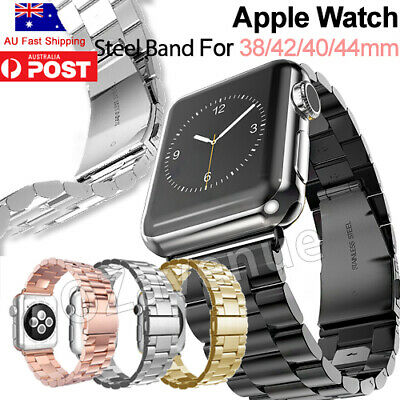 AU14.41 • Buy Stainless Steel Link Bracelet Strap Watch Band For Apple Watch IWatch 1 2 3 4 5