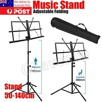 AU15.79 • Buy Foldable Sheet Music Stand Tripod Holder With Carry Bag For Stage Violin Guitar