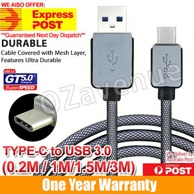 AU13.62 • Buy USB-C USB 3.1 Type C Type A Male Data Charge Fast Charging Cable Samsung Galaxy