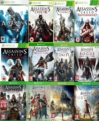 Assassins Creed Xbox One / Xbox 360 Assorted Backward Compatible MINT - FAST DEL • 19.99£