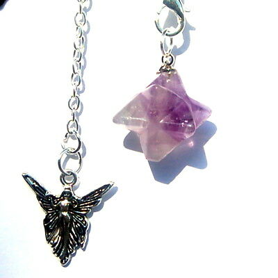 Powerful 3/4 Inch Merkabah Merkaba Crystal Healing Pendulum Dowser Angel Charm  • 4.99£