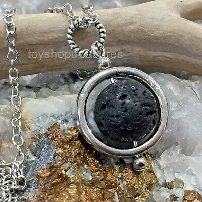 AU15.95 • Buy Aromatherapy Diffuser Essential Oil Lava Stone Pendulum Orb Healing Necklace