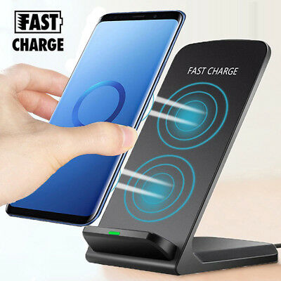 $ CDN12.26 • Buy For Samsung Galaxy S10 S9 Plus Note 10 Wireless Qi Fast Charger Stand Dock Pad