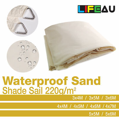 AU96.90 • Buy Waterproof Extra Heavy Duty SAND Shade Sail 220gsm Rectangle Square