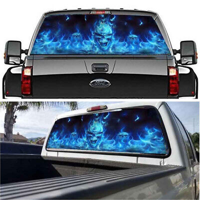 Car Sticker Truck 53X14 inch Flaming Red Rear Window Tint Graphic Decal Wrap