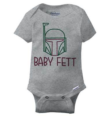 e62d521a2 Baby Fett Cool Gift Cute Edgy Sarcastic Star Wars Hunter Gym Gerber Onesies  • 8.99$
