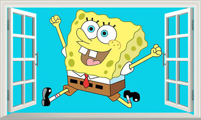 SpongeBob SquarePants Magic Window Wall Art Sticker Self Adhesive Vinyl Poster4* • 11£