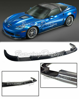 $369.99 • Buy For 05-13 Chevrolet Corvette Carbon Fiber Front Lip Bumper Splitter C6 Z06 ZR1
