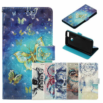 AU6.84 • Buy Luxury 3D Pattern Leather Wallet Flip Case Cover For OPPO A59 A57 R11 R9S