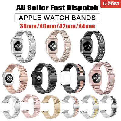 AU16.95 • Buy Watch Band Stainless Steel Strap For Apple Watch IWatch Series SE/6/5/4/3/2/1