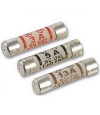 3a 5a 13a Domestic Fuses Plug Top Household Mains Cartridge Fuse - NEW • 0.99£
