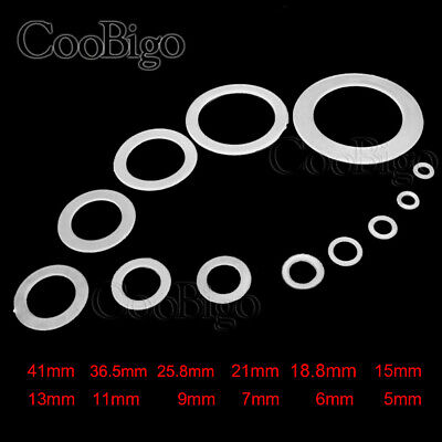 12 Clear Nylon Washer Shim Spacer Washer Gasket Rings O-Ring 12 Size Pick M5~M41 • 1.39£