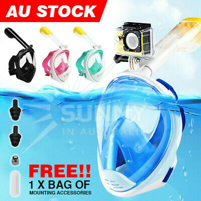 AU20.97 • Buy Full Face Diving Seaview Snorkel Snorkeling Mask Swimming Goggles For GoPro AU