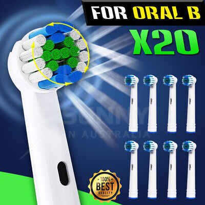 AU15.99 • Buy 20 Electric Toothbrush Replacement Heads Brushes For Braun Oral B
