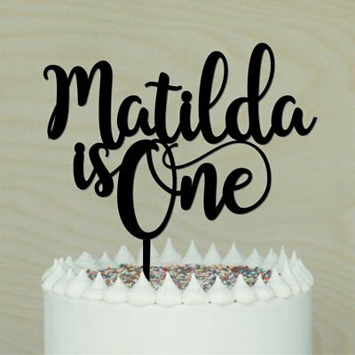 AU25 • Buy Is One Personalised 1st Birthday Cake Topper. Happy 1st Birthday Timber/ Acrylic