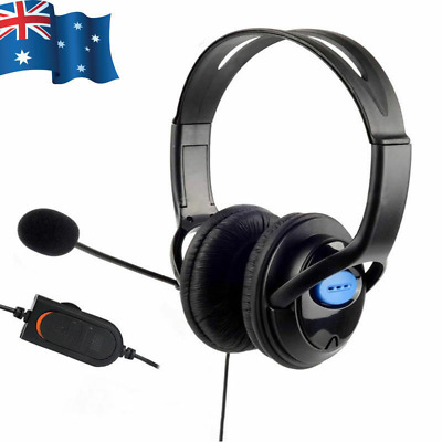 AU18.95 • Buy Gaming Headset Headphone W/ Microphone Volume Control For Sony PS4 PlayStation 4