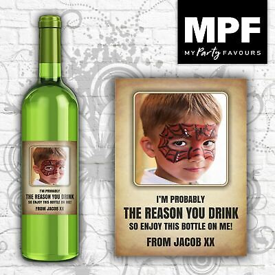 £2.95 • Buy Personalised Photo Wine Bottle Label (Reason You Drink) - Teacher Thank You Gift