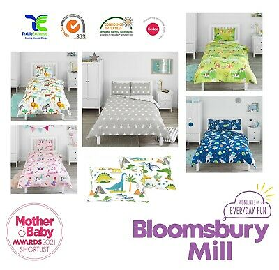 £13.99 • Buy Childrens Duvet Cover Pillowcase Sets Toddler Cot Bed Kids Single Double Bedding