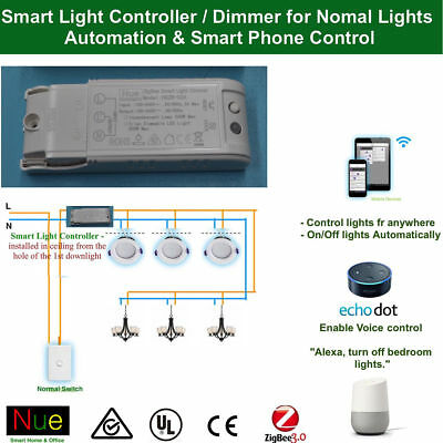 AU43.20 • Buy Smart ZigBee Light Controller / Dimmer Switch For Google Home Alexa Normal Light