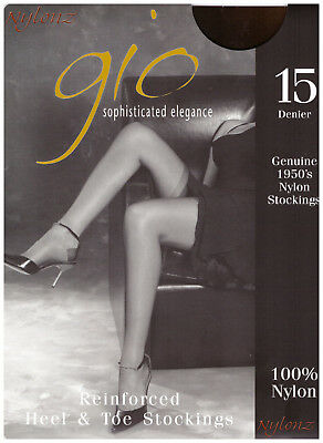 £9.95 • Buy Gio RHT Stockings / Nylons - ALL SIZES & COLOURS *Imperfects* From NYLONZ