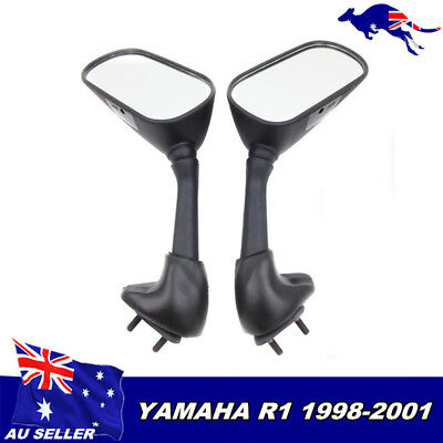 AU30.41 • Buy 1998 1999 2000 2001 Yamaha YZF R1 Black Style Racing Replacement Mirrors