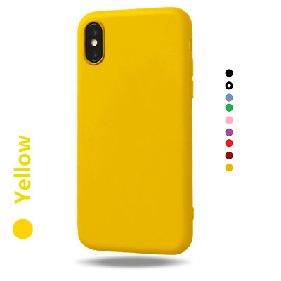 Soft Matte TPU Silicone Phone Case Cover Apple IPhone XS Max XR X 11 8 7 6 Plus • 3.79£