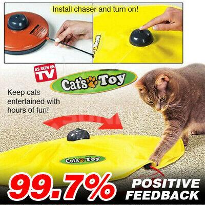 AU21.84 • Buy Electronic Cat Toy Fabric Cat's Meow Undercover Fabric Moving Mouse Fun AU