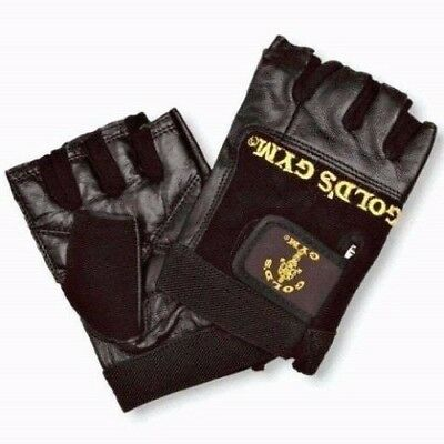 £5.75 • Buy Golds GYM Max Lift Leather Weight Lifting Gloves Body Building Gold's Gym Gloves