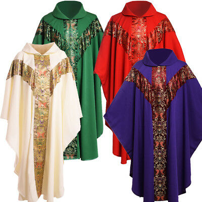 £23.99 • Buy Catholic Church Chasuble Vestments Clergy Priest Pastor Embroidery Robe