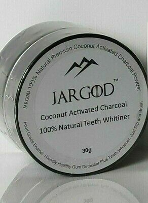 AU17.29 • Buy Natural Organic Black Charcoal Teeth Whitening Powder Coconut Activated- Jargod
