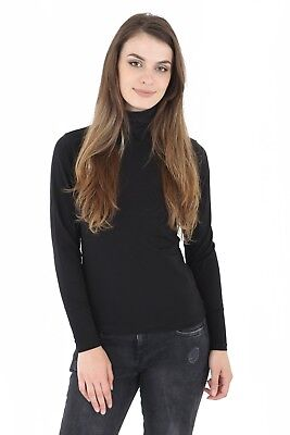 AU10.86 • Buy Womens Ladies 45% Cotton Roll High Neck Polo Turtle Top Jumper Long Sleeve Tops