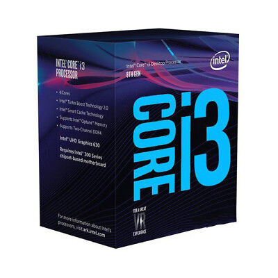 AU239 • Buy Intel Core I3-8100 3.6Ghz S1151 Coffee Lake 8th Generation Boxed 3 Years Warrant