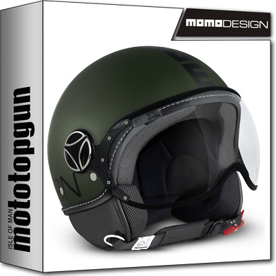 b778908586168 Momo-design Casco Moto Fighter Classic Verde Militare Matto Nero M • 113.40€