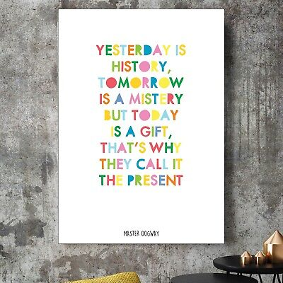 £12.99 • Buy Kung-Fu Panda Master Oogway Yesterday Is History Quote Poster Print Kids Decor