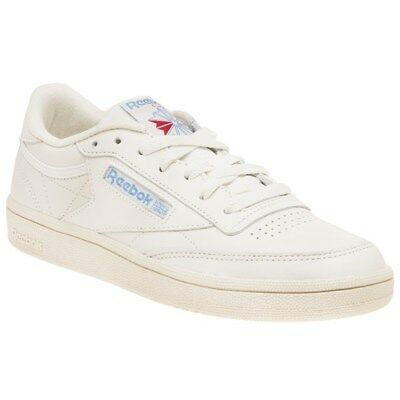47c9b2e220689 New Womens Reebok White Natural Club C 85 Vintage Leather Trainers Court  Lace Up • 87.94