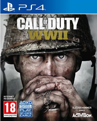 Call Of Duty WWII CoD World War 2  - PS4 - MINT - Same Day Dispatch* Fast Deliv • 12.99£