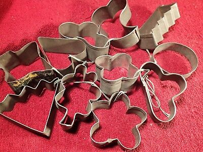 $ CDN21.14 • Buy 1920 / 1930-s Lot 11 DIFFERENT VINTAGE ANTIQUE COOKIE CUTTERS FOLK ART FINLAND