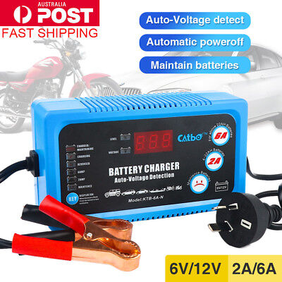 AU45.67 • Buy Battery Charger Maintainer 6V 12V Amp Volt Trickle RV Car Truck Motorcycle Mower