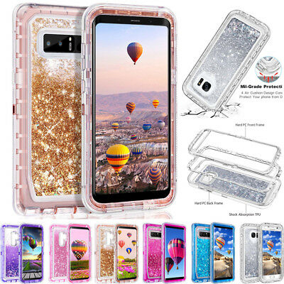 $ CDN7.49 • Buy For Samsung Galaxy S7 S8 S9 Plus Note8 Quicksand Liquid Glitter Bling Case Cover