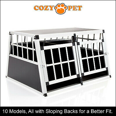 £87.99 • Buy Aluminium Car Dog Cage Cozy Pet Travel Puppy Crate Pet Carrier Transport ACDC02